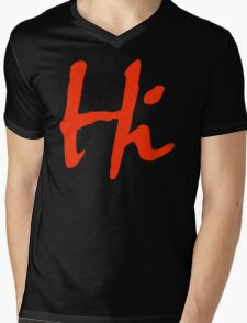 Hi 2 Mens V-Neck T-Shirt