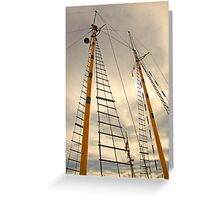 The Masts  Greeting Card