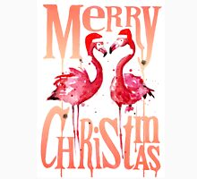 Christmas Flamingos Men's Baseball ¾ T-Shirt