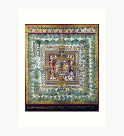Blue Medicine Buddha Tibetan Art Reproduction Art Print