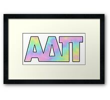 Alpha Delta Pi Cute Framed Print