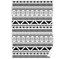 Black & White Aztec Pattern Poster