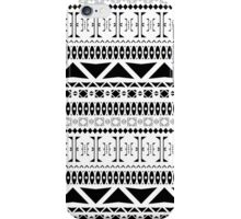 Black & White Aztec Pattern iPhone Case/Skin