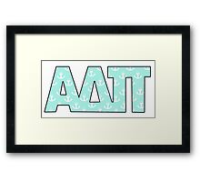 Alpha Delta Pi Anchors Framed Print