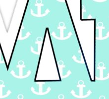 Alpha Delta Pi Anchors Sticker