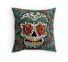 'Sweet Sugar Skull #1 Throw Pillow