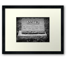 A Comedian Until the End Framed Print