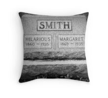 A Comedian Until the End Throw Pillow