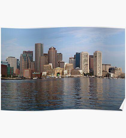 Boston's Waterfront Skyline  Poster