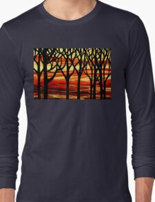 Abstract Forest Indian Summer Long Sleeve T-Shirt