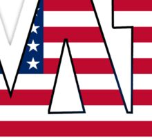 Alpha Delta Pi American Flag Sticker