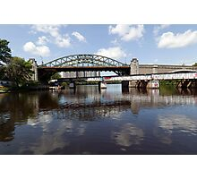 Boston University Bridge and Grand Junction Railroad Bridge  Photographic Print