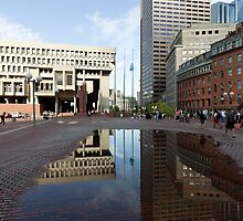 Government Center Plaza in downtown Boston  by John Gaffen