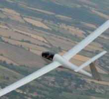 Glider soaring cross country. Sticker