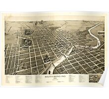 Panoramic Maps South Bend Ind 1890 Poster