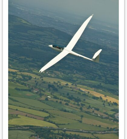 Gliders thermaling over English countryside. Sticker
