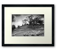 Uther's Hill BW Framed Print