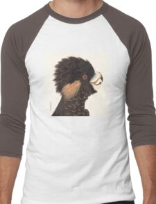 Yellow-tailed Black Cockatoo Men's Baseball ¾ T-Shirt
