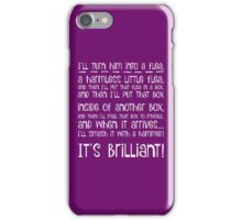I'll turn him into a flea... in white iPhone Case/Skin