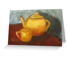Teapot Greeting Card