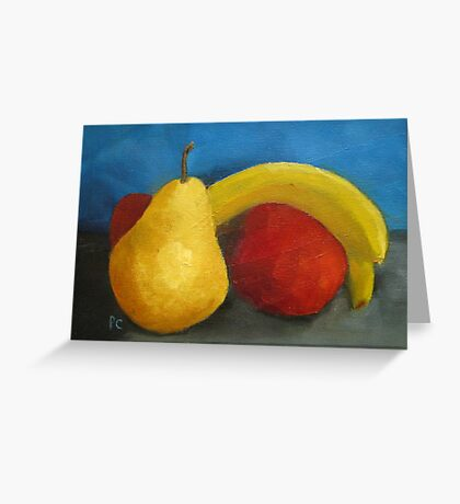 Fruit with Banana Greeting Card