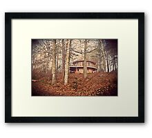 the round house in the woods Framed Print
