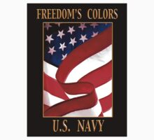FREEDOM'S COLORS NAVY Kids Tee