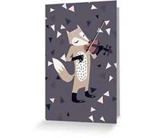 FOXY VIOLINIST Greeting Card