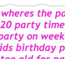 Party Evolution Sticker