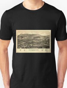 Panoramic Maps Williamstown Mass Unisex T-Shirt