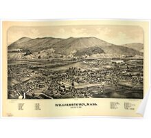Panoramic Maps Williamstown Mass Poster