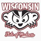 Mad Badger Wisconsin State of Madness by gstrehlow2011
