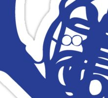 Blue French Horn Sticker