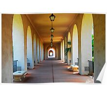 Archways at Balboa Park Poster