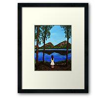 At the Mountain Lake Framed Print