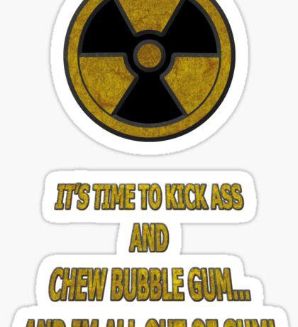 Duke Nukem - Chew Bubble Gum Sticker