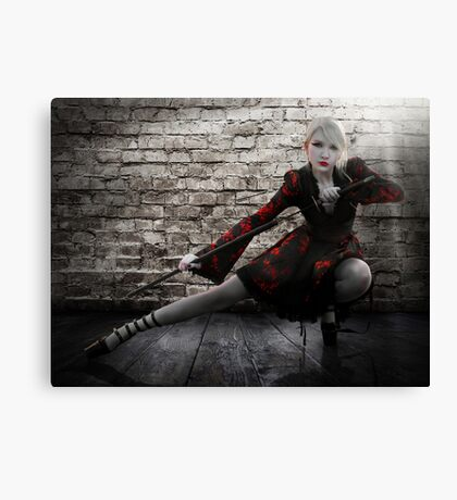 Alley Fight Canvas Print