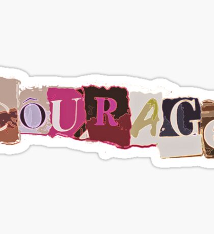 Klaine Courage Sticker