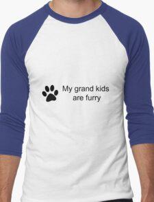 My Grand Kids Are Furry (Cat Paw)  Men's Baseball ¾ T-Shirt