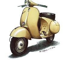 1958 Vespa 150 gs motorbike by mrclassic