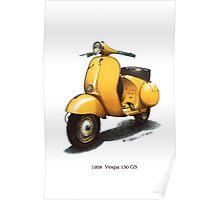 1958 Vespa 150 gs motorbike Poster