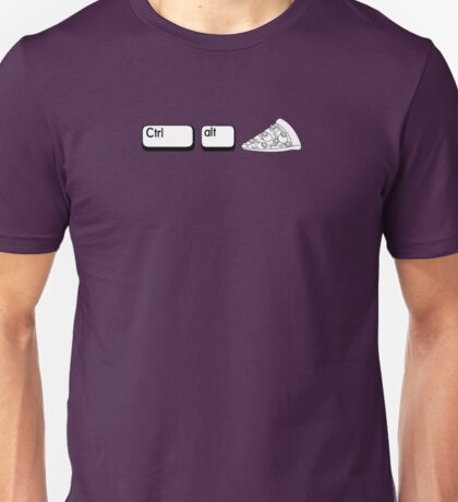 Ctrl Alt Pizza Unisex T-Shirt