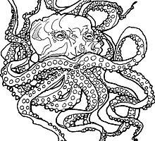 uncolored octopus  by HiddenStash