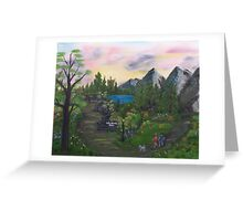 Vista DeLago Park Greeting Card