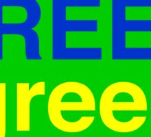 Green # 1  Sticker