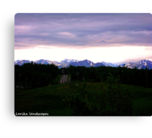 Dusk in Anchorage Canvas Print