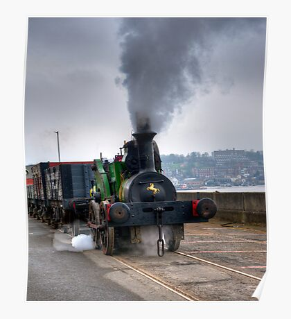 SteamTrain at Chatham. Poster