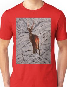 Stag in winter Unisex T-Shirt