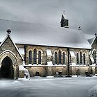 Snowy Langton Green Church by Hovis