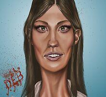 """""""Deb"""" - Jennifer Carpenter's Caricature  by lerectifieur"""